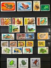 Lot of Worldwide Frogs on Stamps MNH