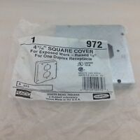 Hubbell - Raco 972 Square Cover 4-11/16in