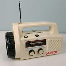 Vintage Portable Sportie Am/Fm All Weather Flashlight Sports Radio Rare - Works!