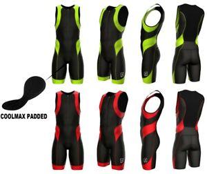 Triathlon Suit Men Racing Tri Cycling Skin Suit Bike Swim Run Padded Tri Suit