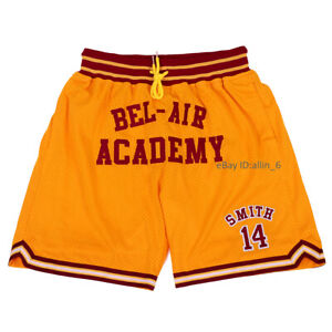 The Fresh Prince of Bel Air Academy Will Smith Basketball Shorts Double Stitched
