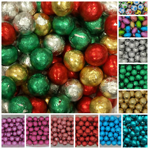Milk Chocolate Foil BALLS Wrapped Wedding Christmas Valentines Easter Favours