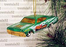 '65 CHEVY IMPALA LOWRIDER 1965 GREEN YELLOW CHEVROLET CHRISTMAS ORNAMENT XMAS
