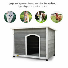 Coziwow Dog House for Large Dogs, Weatherproof Outside Dog Kennel w/ Hinged Roof