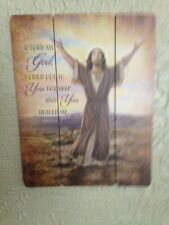 """""""I Cried Out To You For Help Jesus"""" Pallet Sign, 12x15"""" New in box! New Release"""
