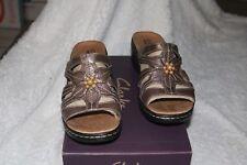 Clarks Sandals Lexi Myrtle  Mule Pewter Size 9 XW WW NIB Ret 135 Super Cute!!