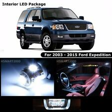 17PCS Cool White LED Interior Bulbs Package For 2003 - 2015 Ford Expedition