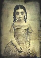 Antique Victorian Era Post Mortem Photo 112 Bizarre Odd Strange