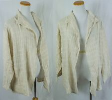 Vintage Handwoven 100% Cotton buttermilk Jacket!! Size XL