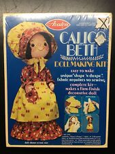 Vintage 1975 NIP Factory Sealed Avalon Calico Beth Doll Making Kit No. 2707