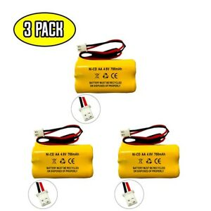 Exit Sign Emergency Light NiCd Battery Replacement for 4.8v 650mAh 800mAh