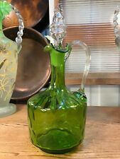 Antique Victorian 19th Century English Hand Made Glass Jug Decanter