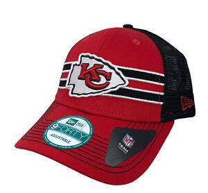 Kansas City Chiefs NFL New Era Mesh Trucker Snapback Cap (Red/Black) NWT