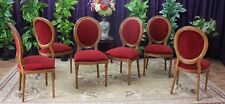 LOT 6 CHAISES MEDAILLON CHENE BORDEAUX