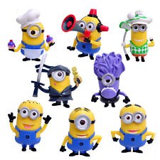 8pcs/Set Despicable Me2 Minions Movie Character Action Figures Doll Kid Toy PVC