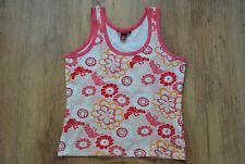 H&M LOGG Damen Tank Top Träger Top Shirt Gr. M Ärmellos Blumen Flower Baumwolle