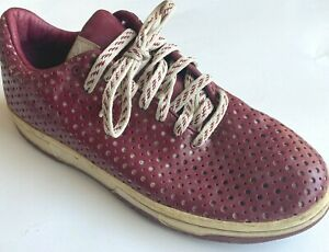 Nike Supreme Dunk Low Sneakers Women 9.5 Retro Burgundy Polka Dot Patent Leather