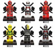 6pcs Deadpool Building Block Marvel Super Heroes Avengers Bricks Toys