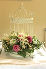 45cm High White Birdcage Centrepiece FOR EVENT DECOR HIRE ONLY!!