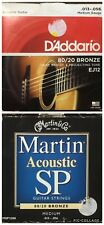 Martin & D'Addario Acoustic Guitar Strings 2 Partial Sets