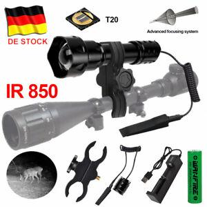 Langstrecken Infrarot T20 IR 850nm LED Jagdlicht Nachtsicht Taschenlampe Jagd