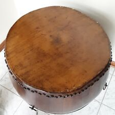 antique chinese drum wood carving fine Very Good  condition