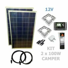 Viasolar KIT 2X100W CAMPER 12V Panel Solar y Regulador (2308KCPP2X100M1)