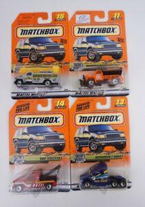"4 pc Matchbox ""HighWay Haulers"" #11 Highway #13 kenworth #14 Wrecker #15 Utility"