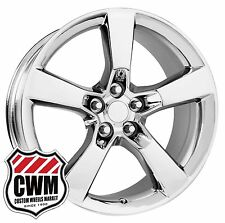 "20 inch 20x8"" OE Performance 125C Chevy Camaro SS Chrome Wheels Rims 5x120 +35"