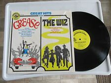 Great Hits from Grease and The Wiz VINYL LP  1978 Wonderland Records WLP 316