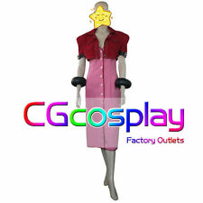 Free Shipping Cosplay Costume Final Fantasy VII 7 Aerith Gainsborough Uniform