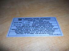 1970 FORD ECONOLINE CLUB WAGON 302 EMISSIONS DECAL LATE