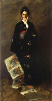 Stunning Oil William Merritt Chase - Japan women with The Japanese Book canvas