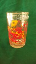 1974 Wile E. Coyote Juice Glass, Wile E. Heads For A Big Finish