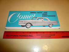 Mercury Comet Quick Facts & Price Comparison's Sales Tool - Vintage