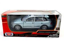 MotorMax Porsche Cayenne Turbo Silver 1/24 Diecast Cars