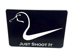JUST SHOOT IT DUCK, Billet Aluminum Trailer Hitch plug Cover, 4X6