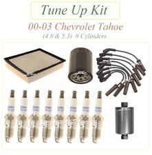 Tune Up For 00-03 CHEVROLET Tahoe 4.8 5.3 V8 : Spark Plugs Wire set Air Fuel Oil
