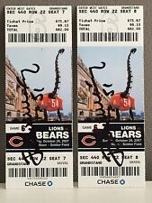 Jim Morrissey #51 Signed Pair Of 2007 Chicago Bears Game Tickets