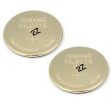 2PCS New Original 3V Maxell ML2016 Rechargeable Lithium CMOS RTC Battery