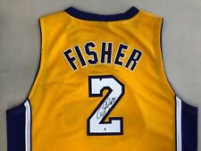 Derek Fisher - Lakers 2 Autographed NBA Jersey - Player 10 Adidas Size 52 - COA