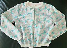 Blouson bomber fleuri blanc bleu rose ZARA 8 9 ans
