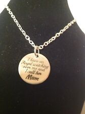 Mum bereaved tag necklace silver plated