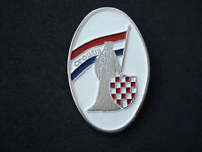 Croatia wartime badge; checky, army, military, Homeland war, 1990 - 1992