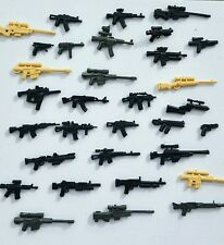 16x Custom weapons designed for LEGO® Minifigures. Pack of 16x detailed guns