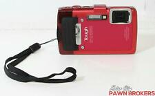 Olympus (TG-830) Tough - 16 MP, 5x Optical Zoom, Red - Digital Camera AS IS