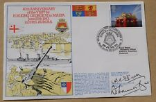 KING GEORGE VI 1943 VISIT TO MALTA 1983 COVER SIGNED BY MCEWEN & HAMILTON-BATE