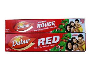 Dabur Red Zahnpasta, 3 Tuben, rote Zahnpasta mit Pfeffer und Ingwer, scharf