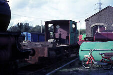 35MM COLOUR SLIDE RAILWAY STEAM LOCOMOTIVE FRAME AND WHEELS 0-6-0 INDUSTRIAL