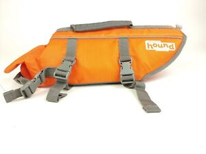 OUTWARD HOUND DOG LIFE JACKET- SIZE SMALL - ORANGE AND GRAY - GUC